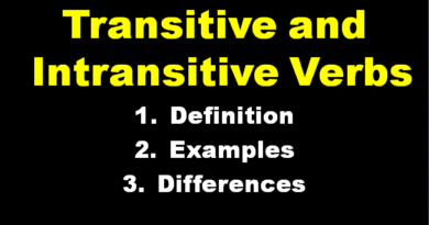 Transitive and Intransitive Verbs- Definition, Examples and Differences