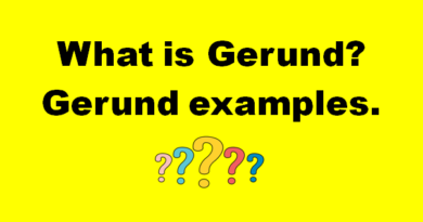 What is Gerund? gerund examples