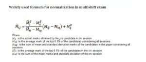 What is normalization formula